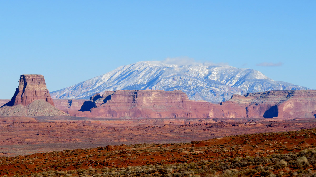 Navajo Mtn and Tower Butte
